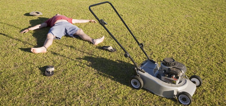 cutting your grass